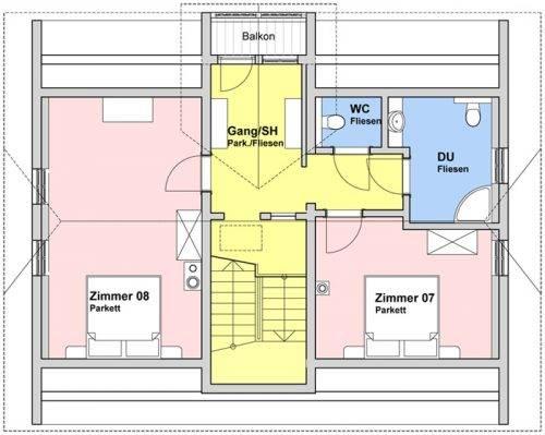 Grundriss Dachgeschoss (53 m²)